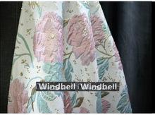 100 см * 140 см/шт Золотая нить пион окрашенная в пряже жаккардовая ткань для платья(Китай)