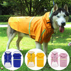 High quality pet clothes large dog zipper pu raincoat waterproof with hat