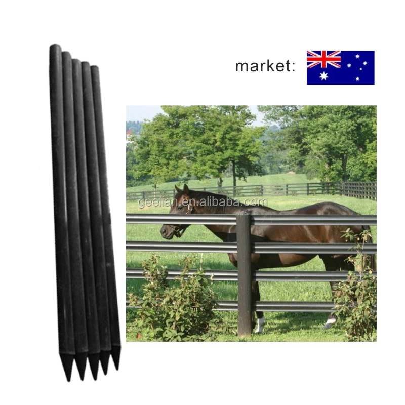 Factory Provide Farm Solid Recycled Plastic square tube fence post cheap price/Round fence post