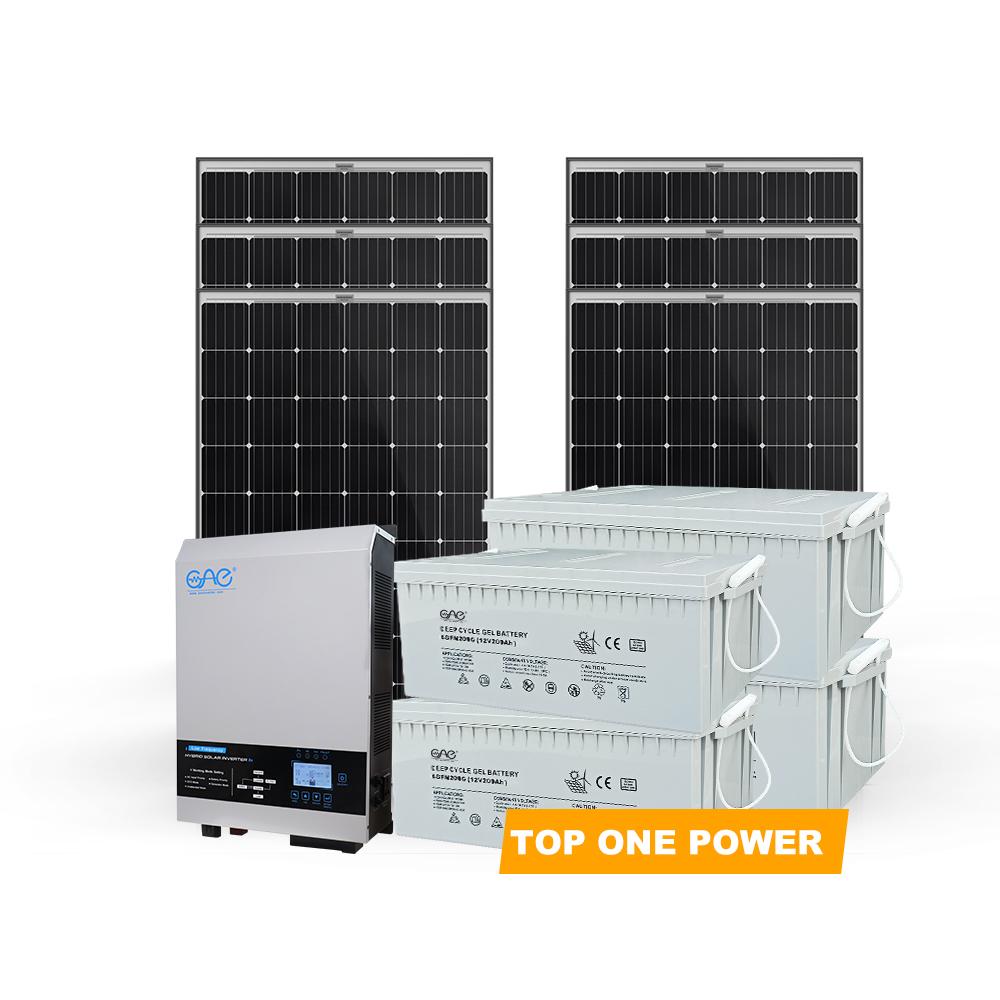 Fácil de instalar, completo 5000w 5kw red iluminación kits de sistema de energía solar precio