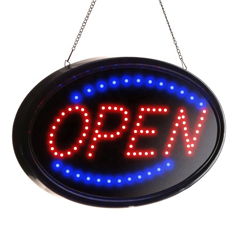 Luar Ruangan Oval USB Powered LED Elektronik Neon Bar Sign Open