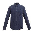 Spring Men's Standard-Fit Long-Sleeve Gingham Plaid yarn dyed small check Shirt