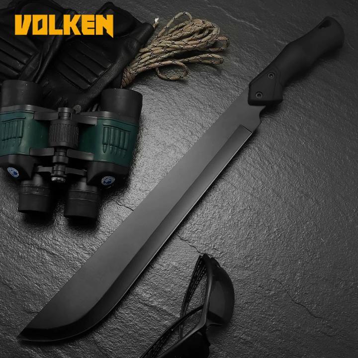 3Cr13 الفولاذ المقاوم للصدأ في الهواء الطلق المنجل مثل المطاط عدم الانزلاق مقبض الغابة التخييم فائدة سكينة قطع