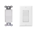 Decorator Wall Light Switch On/Off Rocker Paddle Interrupter for LED and other lamps