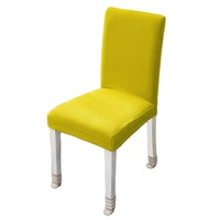 wholesale cheap decoration dinning stretch yellow chair cover