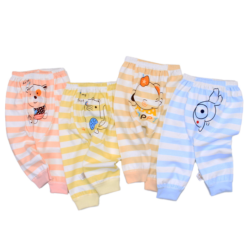new design children's clothing spring and autumn clothing -3-year-old baby men's and women's clothing Harem Pants organic cotton