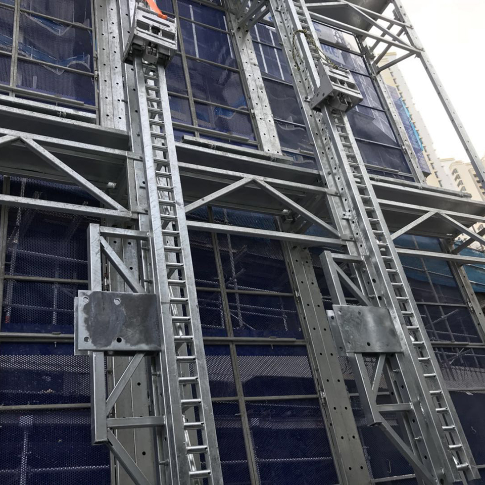 High-rise building construction safe protection panel