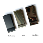 Custom metal clip chrome finish brass Logo Metal Stainless Steel Money Clip