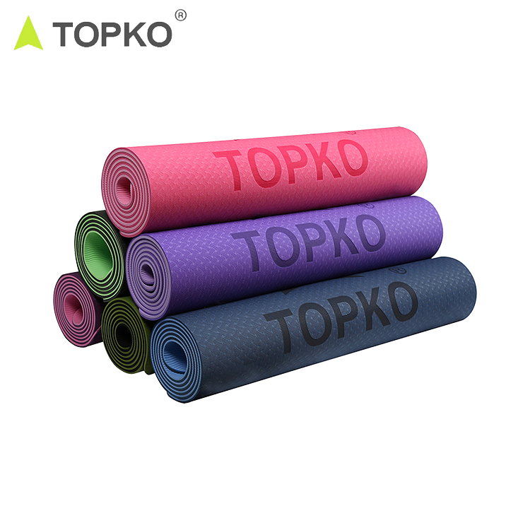 Topko Harga Pabrik Double Layer Private Label Tpe Yoga Mat