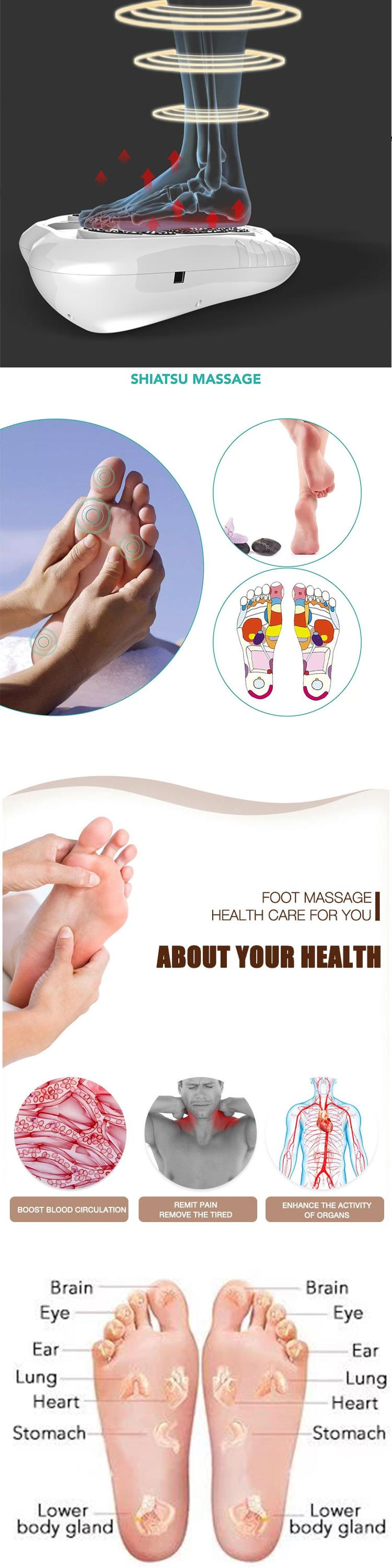 Top Quality Biological Electromagnetic Wave Foot Massager Blood Circulation Electronic Foot Massager