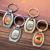 Customized animal polyresine Logo opener keychain zinc alloy Metal custom Keychain