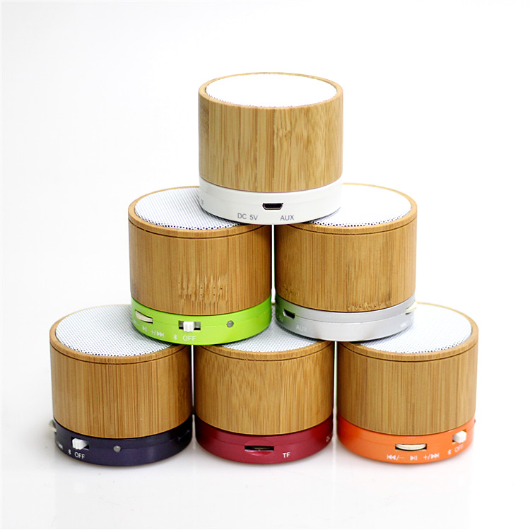 Draagbare Bluetooth Speakers Gemaakt door Bamboe Mini Speakers goedkope bluetooth speakers