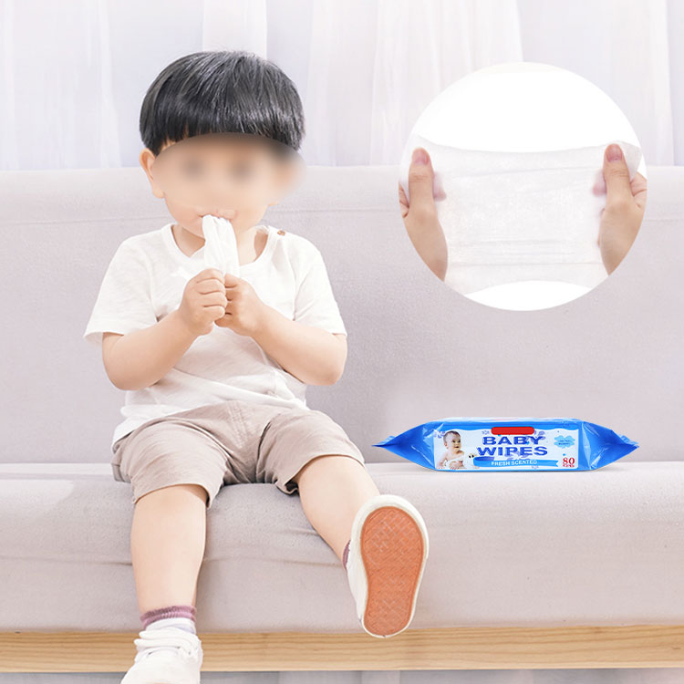 wholesale New arrival 80pcs per pack baby water wet wipes unscented