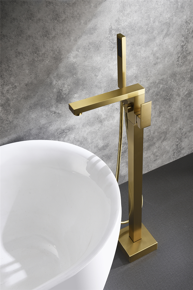 JOYEE Professional factory wholeset brass faucet watermark bathtub faucet brushed gold the faucet with a cheap price