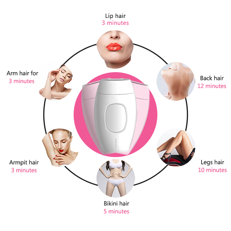 Custom Logo OEM  painless permanent hair laser remover epilator IPL device handheld hair removal for Home