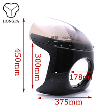 "Motorcycle 7 ""Headlight Fairing Retro Cafe Racer Headlight Front Windshield Windscreen For Kawsaki KZ EN 450 500 VN 700 Vulcan 7"