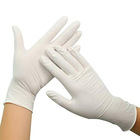 Examination Latex Sterile Natural Disposable Powdered Gloves Custom Examination Latex Sterile Gloves White