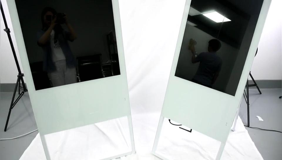 Kapalı dikey stant lcd panel ticari video Kiosk dokunmatik reklam ekranı