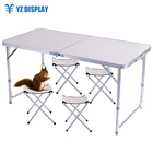 Aluminum Table Aluminum Outdoor Lightweight Aluminum Folding Table With 4 Seatets Hot Sell