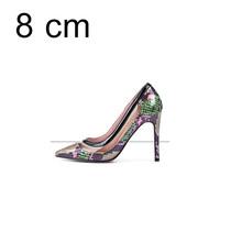 Женские туфли-лодочки из натуральной кожи; Роскошные свадебные туфли на высоком каблуке с острым носком; Прозрачные женские модельные туфл...(China)