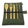 cutlery set with green bag
