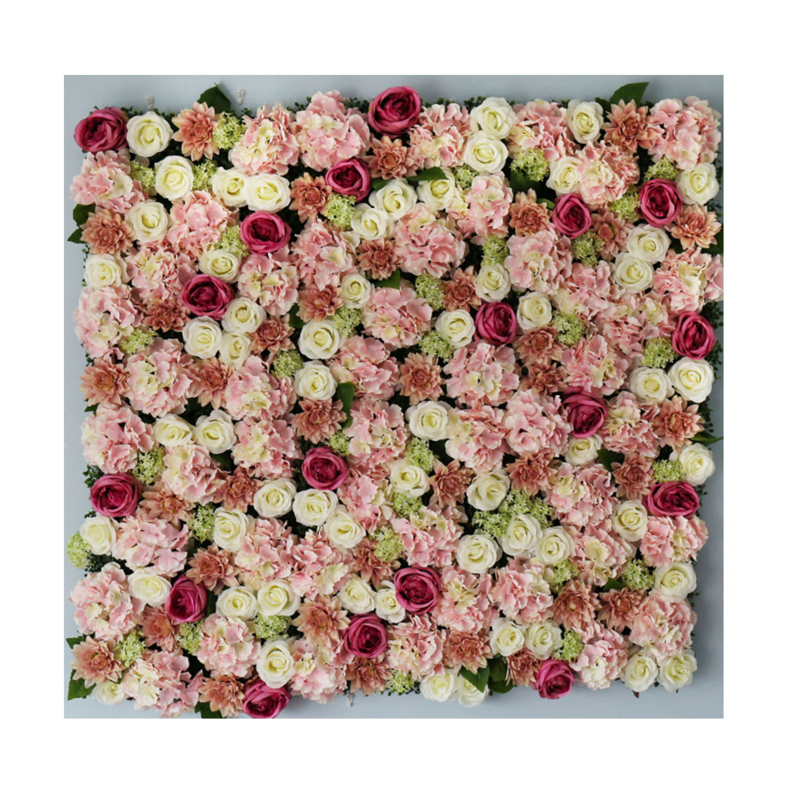 Big Blush Pink White Floral Wall Background Flower Panel