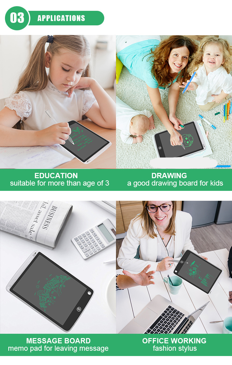 Low Price 10 Inch Digital Drawing Graphic Pad Erasable Lcd Writing Tablet Board