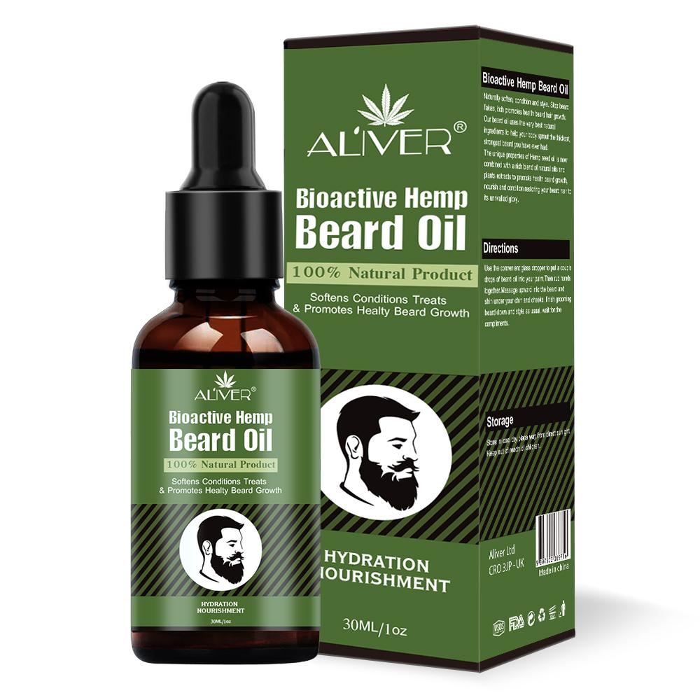 Private Label Bioaktiven Hanf Bart Öl Organischen Hanf Bart Wachstum Öl Für Männer Bart Pflege