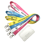 Custom Lanyards With Plastic ID Holder For ID Badges Sublimation Printed