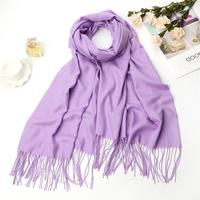 Fashion korea style women shawl winter solid color long pashmina 100% cashmere scarf