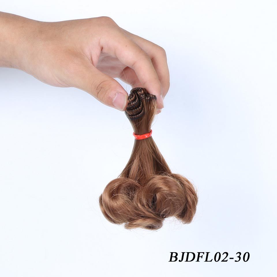 Cataleya DIY peruk postiş Periwig sıcak armut kıvırcık saç bebekler BJD SD kukla parçaları bebek aksesuarları saç bebek