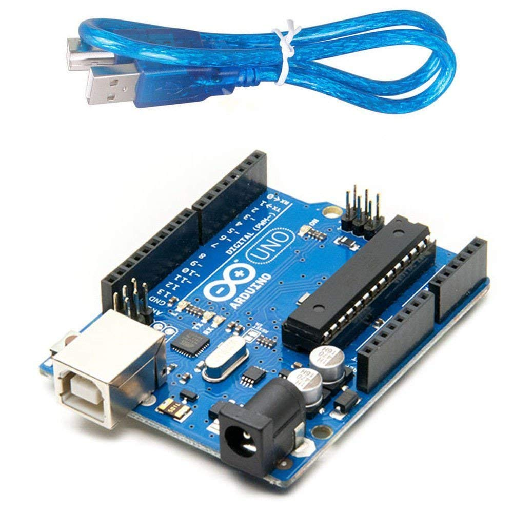 Uno R3 Development Board Kit Microcontroller Based on ATmega328 and ATMEGA16U2 with USB Cable for Arduino DIY Projects
