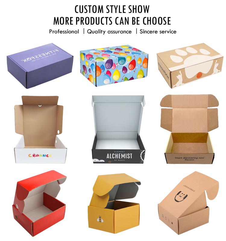 China Wholesale shipping box  Corrugated Cardboard shipping Box  Custom logo printed  carton pink shipping box with logo