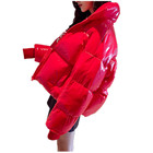 Fashionable Full Sleeve Warmer Puffer Bubble Jacket Coats Women Wholesale Red Puffer Coat Woman