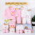 new product idea 2019 Newborn gift set box 18-piece spring and autumn baby clothes set cotton underwear for 0-6 months new born