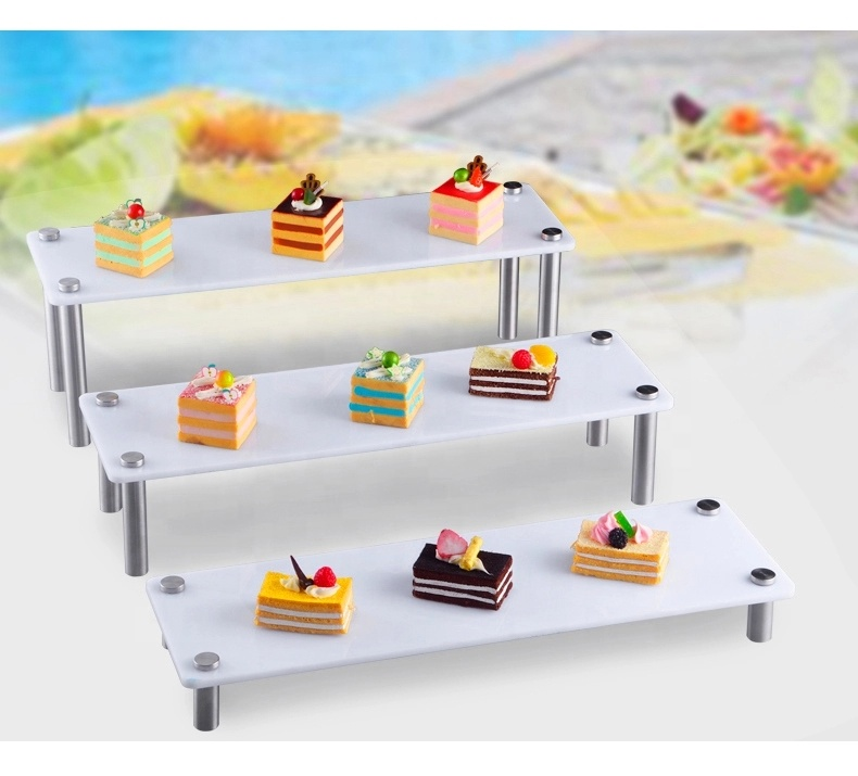 3-Tier floor Acrylic cake stand buffet seafood display fruit tray dessert stand snack <strong>plate</strong> for home hotel and restaurant