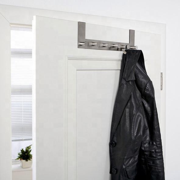 Towel Organizer Metal Behind Back Overdoor Rack Stainless Steel Hanger Over The Door Hook