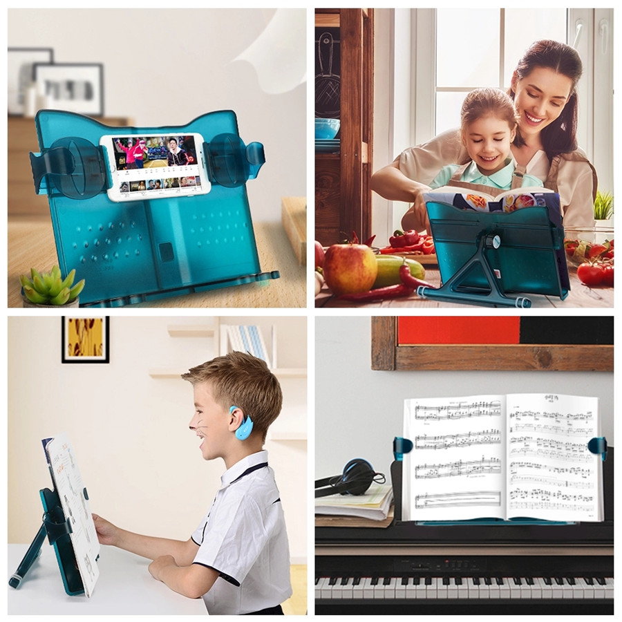 2019 new high quality Adjustable metal Book Display Stand Recipe Holder book reading holder