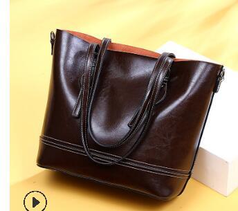 Женская сумка, винтажная сумка на плечо, роскошные сумки, кожаные сумки через плечо для женщин, 2020, Женская Повседневная Сумка-тоут, C1256(Китай)