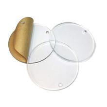 Signal/étique.biz/® Verre Acrylique Transparent 10 cm PMMA XT Format Rond Diff/érentes Tailles Disponible /Épaisseur 4 mm Cercle Disque Rond en Plexi Plexiglas Polycarbonate