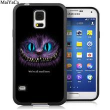 Чехлы для телефонов MaiYaCa с милой Алисой в стране чудес Чеширский кот для samsung S6 S7 edge S8 S9 S10 Plus Lite Note 9 8 задняя крышка чехол(Китай)