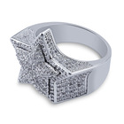 Crystal Fancy Jewelry hip hop Jewelry iced out brass bling ring Cubic Zirconia Iced Out Ring