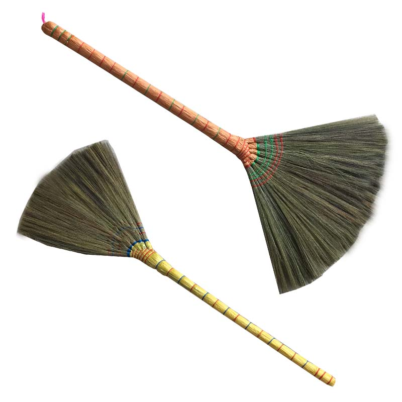 Grass brooms raw material china wholesale manufacturer eco-friendly for household grass broom