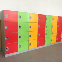ABS plastic bule color 15 doors locker for students