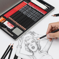 2019 hot sale soft wood art painting pencil set drawing pencil set charcoal pencil