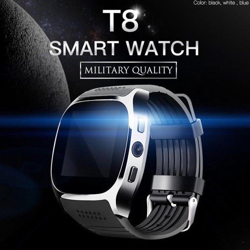 Reloj inteligente T8 barato de fábrica con cámara, reloj inteligente DZ09 A1 U8 T8