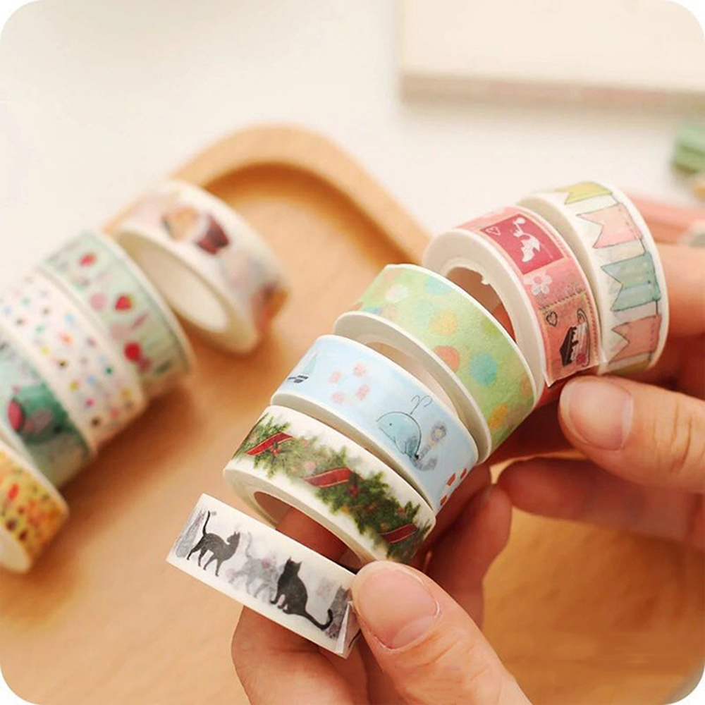 Hot sale VOGRACE cheap OEM cartoon anime custom DIY washi tape wholesale christmas decoration colorful paper tapes for promotion