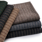 10% wool 90% polyester blend tweed fabric for garment