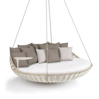 rattan/wicker hanging swing day bed outdoor round daybed