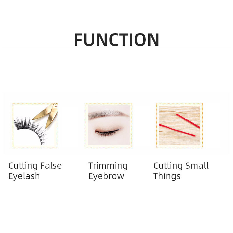 Rose Gold Makeup Tools Small Scissor Stainless Steel Cutting False Eyelash Hair Nail Cuticle Trimming Eyebrow Curve Scissors